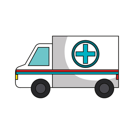 ambulance car isolated icon vector illustration design