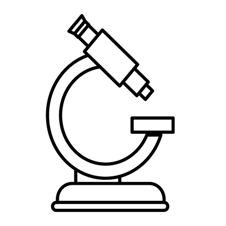 microscope medical isolated icon vector illustration design