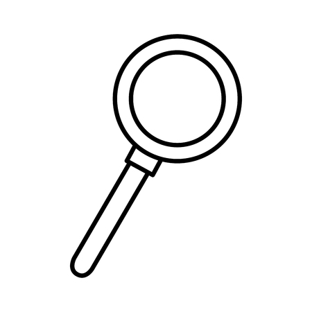magnifying glass isolated icon vector illustration design Stock Vector - 76896453