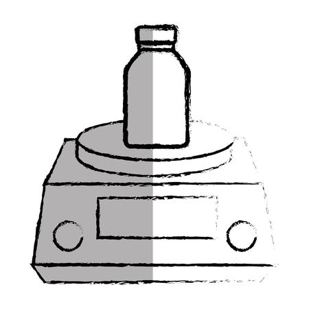 scale icon: gramer scale isolated icon vector illustration design Illustration