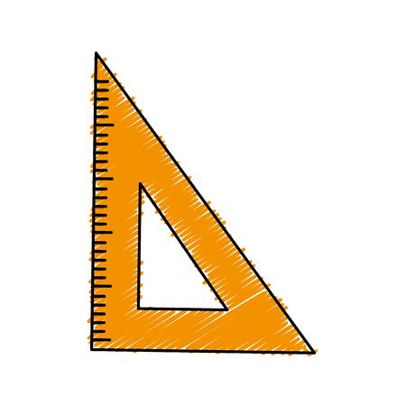 rule school isolated icon vector illustration design Ilustrace