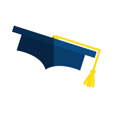 卒業の帽子アイコン ベクトル イラスト デザインを分離しました。 写真素材 - 76926756