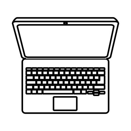 computer education: computer laptop isolated icon vector illustration design Illustration