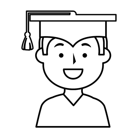 graduated: graduated avatar character icon vector illustration design Illustration