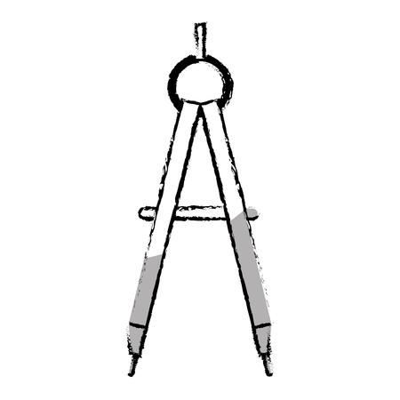 compass supply school icon vector illustration design