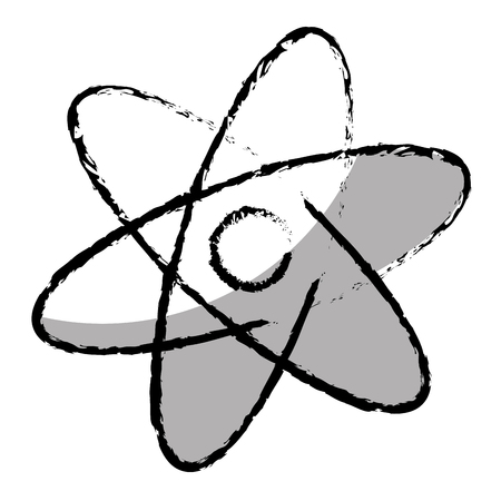 atom molecule isolated icon vector illustration design Stock Vector - 76927560