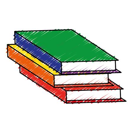 text book library icon vector illustration design