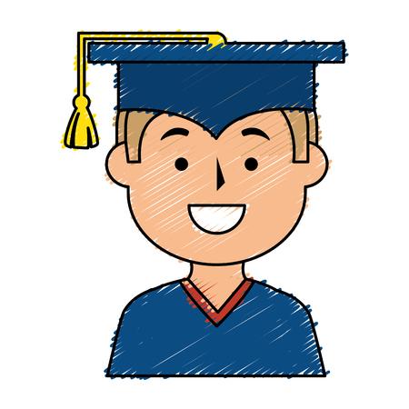 graduated avatar character icon vector illustration design Illustration