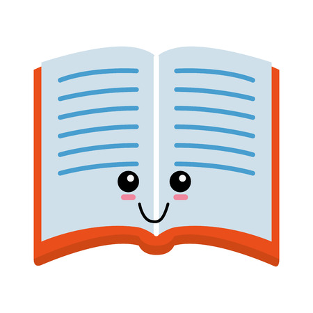 Book cute cartoon icon vector illustration graphic design