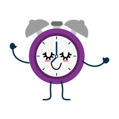 Alarm clock cartoon icon vector illustration graphic design
