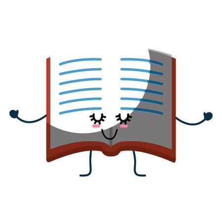 Boek schattig cartoon pictogram vector illustratie grafisch ontwerp