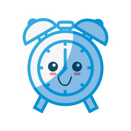 Alarm clock cartoon icon vector illustration graphic design