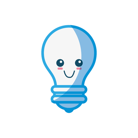 Bulb cute cartoon icon vector illustration graphic design Ilustração