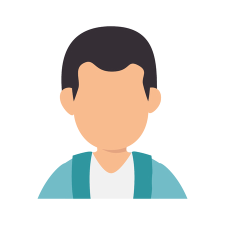 Man faceless profile icon vector illustration graphic design Illustration