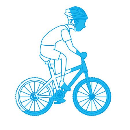Sport man cartoon icon vector illustration graphic design