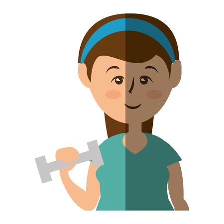 Women fitness cartoon icon vector illustration graphic design Illustration