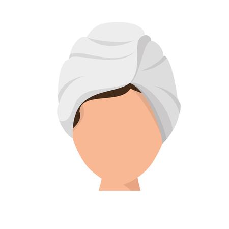 beauty therapist: Woman in spa icon vector illustration graphic design