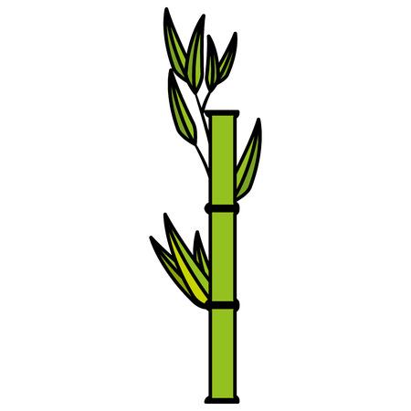 Bamboo japanese tree icon vector illustration graphic design Illustration