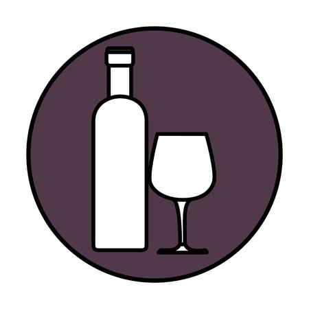 Botella de vino bebida icono de la ilustración vectorial diseño gráfico Foto de archivo - 76930118