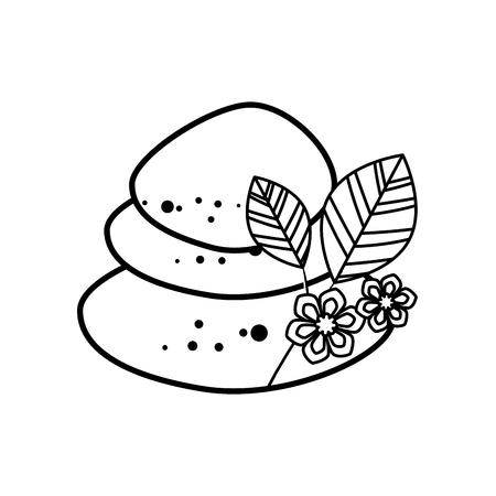 beauty therapist: Spa stones isolated icon vector illustration graphic design Illustration
