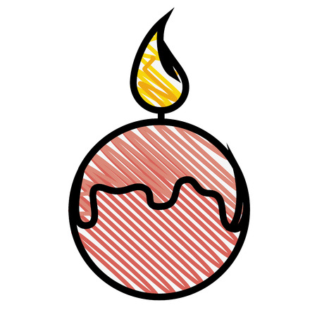 beauty therapist: Spa candles aromatherapy icon vector illustration graphic design Illustration