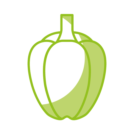 Peppers fresh vegetable icon vector illustration design