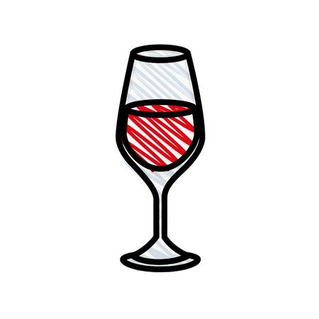 Wine bottle drink icon vector illustration graphic design. Illustration