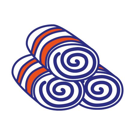 Set di asciugamani da bagno icona illustrazione vettoriale illustrazione grafica. Archivio Fotografico - 76962975