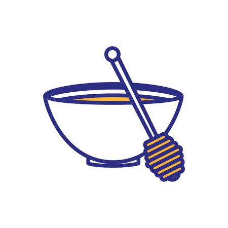 Delicious sweet honey icon vector illustration graphic design.