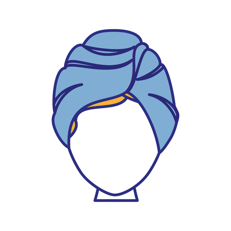 Woman in spa icon vector illustration graphic design