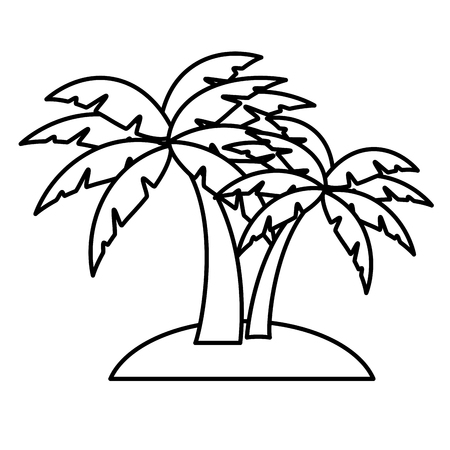 Beach palm tree icon vector illustration graphic design Ilustração