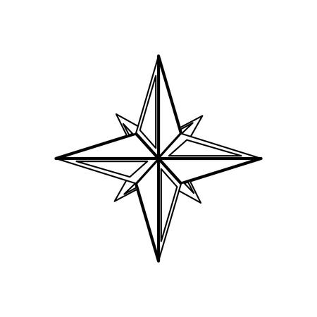 Nautische roos navigatie pictogram vector illustratie grafisch ontwerp