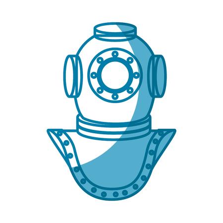 Deep sea diver icon vector illustration graphic design Stock Vector - 76961748