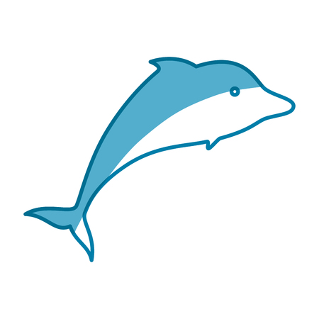 Dolphin marine animal icon vector illustration graphic design