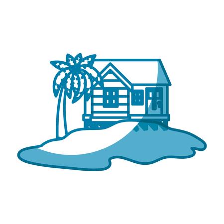 Island house draw icon vector illustration graphic design icon vector illustration graphic design