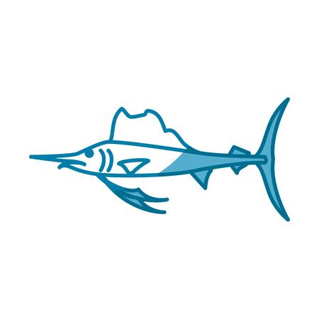 Fish marine animal icon vector illustration graphic design Illusztráció