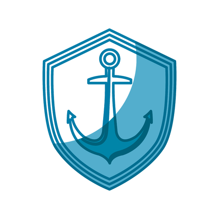 Anchor marine symbol icon vector illustration graphic design
