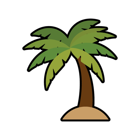 Beach palm tree icon vector illustration graphic design Illustration