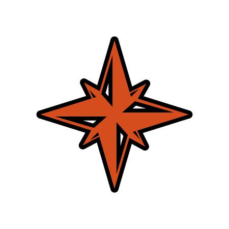 Nautische Rose Navigation Symbol Vektor-Illustration Grafik-Design Standard-Bild - 76961887