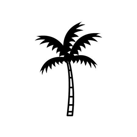Beach palm tree icon vector illustration graphic design Illustration