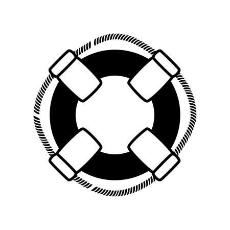Ring Boje Schwimmer Icon Vektor-Illustration Grafik-Design Standard-Bild - 76962007
