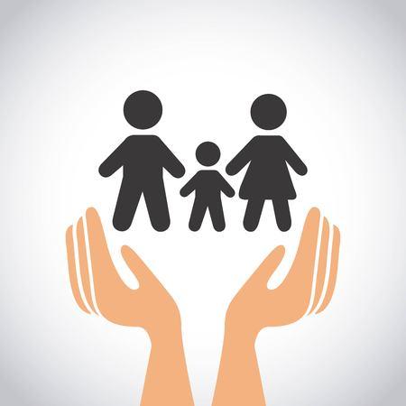 family insurance concept icon vector illustration design Illustration