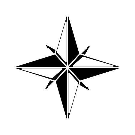 Nautical rose navigation icon vector illustration graphic design Illustration
