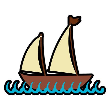 Meer Schiff Transport Symbol Vektor-Illustration Grafik-Design Standard-Bild - 76962238