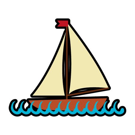 Sea ship transport icon vector illustration graphic design Ilustracja