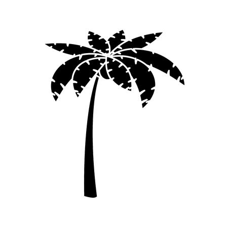해변 야자 나무 아이콘 벡터 일러스트 그래픽 디자인 일러스트
