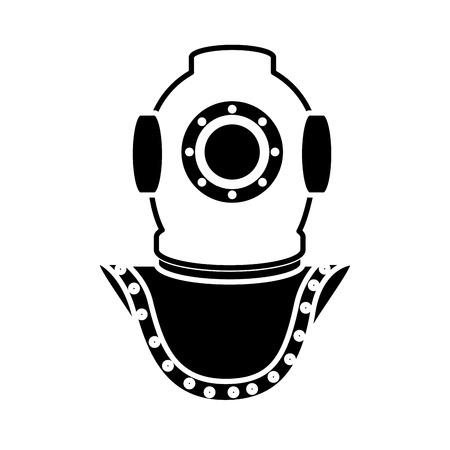 Deep sea diver icon vector illustration graphic design Illustration