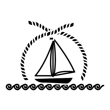 Sea ship transport icon vector illustration graphic design Illustration