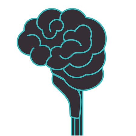 Human brain intelligence icon vector illustration graphic design Illustration
