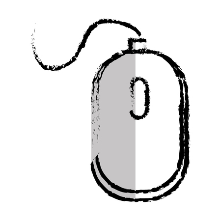 computer mouse isolated icon vector illustration design